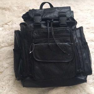 NWOT Vintage Faux Leather Backpack